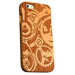 cherry de madera mecánica engranajes tallados caso del iphone dura cubierta trasera protectora para iphone 6s más / 6 más / iphone 6s / 6