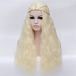New Cartoon Wig Light Golden Noodles Roll Cos 28 Inch