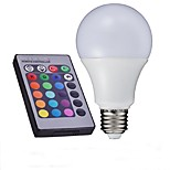 E27 85V-265V 700-850Lm 10W RGB Remote Control LED Colorful Bulbs