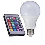 10W E26/E27 Lâmpada Redonda LED A60(A19) 1 LED de Alta Potência 700-850 lm RGB Controle Remoto AC 85-265 V 1 pç