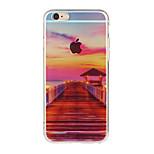 de alta calidad hermoso paisaje niño puede acollador patrón TPU paquete de concha blanda para el iPhone 6 / 6s / 6s / 6 más plus