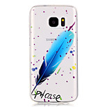 Blue Feather Pattern High Permeability TPU Material Phone Case for Samsung S5/S6/S7/S6 edge/S7 edge
