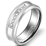 Tungsten Steel Ring Band Rings Wedding / Party / Daily / Casual 1pc