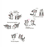 Chi's Sweet Home Cartoon Lovely Cats Wall Stickers DIY Removable Kids Bedroom Kindergarten Wall Decals
