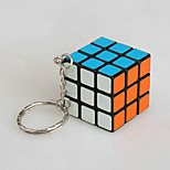 Magic Cube IQ Cube Magic Cube Three-layer With Keychain Smooth Speed Cube Magic Cube puzzle Red PVC / Plastic
