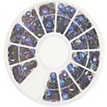 1pcs 4mm Round Bowl Nail Art Black Flat Rhinestones Nail Art DIY Decoration NC307