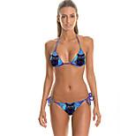 FuLang  Bikinis Set   Beach swimsuit    fashion    personality   sexy  backless  Star  printSC054