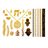 Tattoo Stickers Airbrush Tattoo Stencils Women / Adult Gold Paper 1 23*15*0.3