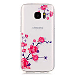 Flower Pattern High Permeability TPU Material Phone Case for Samsung S5/S6/S7/S6 edge/S7 edge