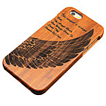 Pear Wooden Wings of Angels Carved Protective Back Cover Hard iPhone Case for iPhone 6S Plus/iPhone 6 Plus/iPhone 6s/6
