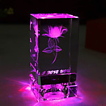 1PC Crystal Rose Decorative Furnishing Articles Gifts On Valentine'S Day Gift Lights Led Lamp