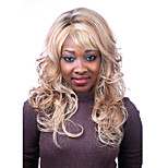 Europe And The United States The New  Polyester Dyed Golden Curly Hair Wig 10 Inch