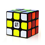 Magic Cube IQ Cube Yongjun Three-layer Speed / Professional Level Smooth Speed Cube Magic Cube puzzle Black ABS