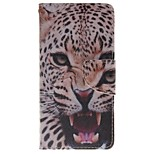 African leopard Wallet Card Holder PU Leather Phone Case for Huawei P9/P9lite