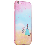 Bike Girl Pattern Metal Frame PC painted  Hard Case for iPhone6/6s/6 Plus/6s Plus