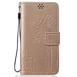 PU Leather Material Dandelion Pattern Painted Embossed Phone Case for Huawei Honor 5X/P9 Lite/P9/P8 Lite