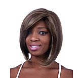 Europe And The United States The New  Hemp Color Dyed Polyester Partial Points BOBO Wig 10 Inch