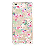 iPhone 6s/6 TPU Soft Transparent Body Pink Flower Back Cover