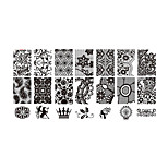 BlueZOO Lace Blue Rectangle Plate Nail Art Stamping (BC-01)