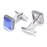 Men's Fashion Blue Crystal Alloy French Shirt Cufflinks (1-Pair)