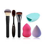 Powder Brush Makeup Toothbrush Foundation Brush Cleaning Brush Egg And Makeup Sponge(Get Water Can Become Bigger)