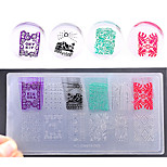 New Environmental Engineering-plastic Nail Art Stamping Template DIY Nail Polish Print Stencil Nail Plates