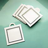 12pcs DIY Thank You tag, Photo Tag (1.5 x 1.5 inch) Wedding Party Gifts Accessory Materials BETER-ZH037