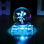 1PC The Crystal Ball Rose Glow Creative Valentine'S Day Gifts Led Light Lamp