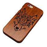 Pear Wooden Wolf Totems Carving Protective Back Cover Hard iPhone Case for iPhone 6S Plus/iPhone 6 Plus/iPhone 6s/6