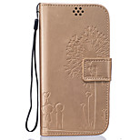 Full Body Wallet / with Stand Solid Color PU Leather Hard Case Cover For HuaweiHuawei P9 / Huawei P9 Lite / Huawei P8 Lite / Huawei Honor