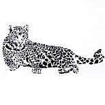 Black Cheetah Leopard Bedroom Living Room Wall Stickers