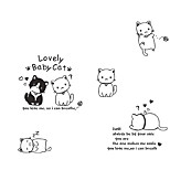 Lovely Baby Cats Wall Stickers Environmental DIY Living Room Bedroom Wall Decals PVC