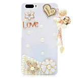 Rhinestone Hard Back Cover for Huawei Honor 6Plus(white - Love Pendant)