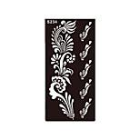 1pc Temporary Tattoo Henna Fake Black Flower Stencil Body Art Tattoo Airbrush Printing Product Sticker S234