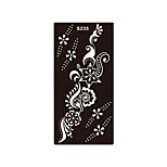 1pc Temporary Tattoo Henna Flower Pendant Stencil Beauty Airbrush Printing Makeup Body Art Tattoo Sticker S235