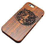 Pear Wooden Tiger Carved Protective Back Cover Hard iPhone Case for iPhone 6S Plus/iPhone 6 Plus/iPhone 6s/iPhone 6