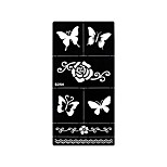 1pc Airbrush Printing Tattoo Butterfly Flower Henna Stencil Temporary Tattoo Body Art Sticker S254