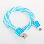 USB cable de cable del cargador 2.0 del color del doble de aluminio de carga rápida para el cable de teléfono inteligente Android de