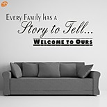 AYA™ DIY Wall Stickers Wall Decals, Family Story English Words & Quotes PVC Wall Stickers