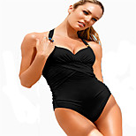 Women's Swimwear Quick Dry / Compression One Piece Adjustable Black/White S / M / L