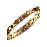 Women's Jewelry Health Care Gold Stainless Steel Magnetic Bracelet