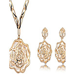 High Quality AAA Zircon Crystal Jewelry Set include Necklace & Earrings  for Wedding Party Lady