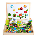 The New Magnetic Dpell Dpell Joy, Vhildren's Eooden Jigsaw Puzzle, Baby Educational Learning Toys-Insects