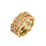 Copper Ring Statement Rings Daily 3pcs Two Color Choice