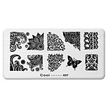 BlueZOO Rectangle Printing Nail Art Stamping (C-007)