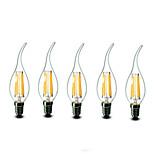 5 pcs shenmeile e14 6w 6 cob 600 lm blanc chaud CA35 dimmable conduit bougies ac 220-240 v
