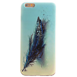 Blue Feather Pattern TPU + IMD Material Phone Case for iPhone 6S Plus/ 6 Plus/6S/6