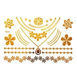 Tattoo Stickers Airbrush Tattoo Stencils Women / Adult Gold Paper 1 23*15*0.3