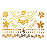 Tatuajes AdhesivosPlantillas para Tatuajes Temporales- paraMujer / Adulto-Dorado-Papel-1-23*15*0.3