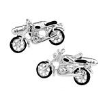 Men's Fashion Motor Style Silver Alloy French Shirt Cufflinks (1-Pair)
